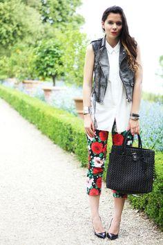 floreal pants michael kors bag and pointy heels on irene's closet blog www.ireneccloset.com