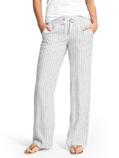 36def99dd Herringbone Stripe Linen Pant - Athleta Linen Pants Outfit, Honeymoon  Outfits, Honeymoon Clothes,