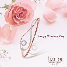 #PressforProgress #InternationalWomensDay #IWD2018 #PureAndTimeless Diamond Bracelets, Bangle Bracelets, Ladies Bracelet, Bangles, Rose Gold Jewelry, Diamond Jewelry, Vintage Rose Gold, Gold Jewellery Design, Indian Jewelry
