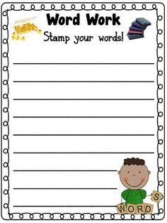 Tori's Teacher Tips: Daily 5- Word Work! {giant freebie!}