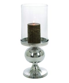 Take a look at this Gray Sleek Pedestal Candleholder by UMA Enterprises on #zulily today!