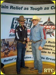 Tyler Harr and our own Real Time Cowboy Steve Carter, go back a ways. It was pretty cool to be there for the reunion.