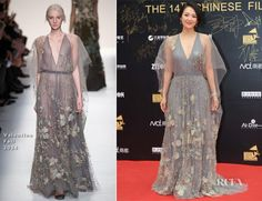 zhang ziyi fashion | Zhang Ziyi attended the 14th Chinese Media Awards on Saturday (October ...