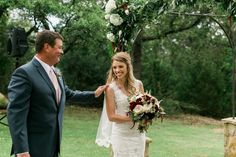 Marci's first look with her dad // Angela King Photography