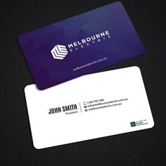 Create an eye-popping business card for a passionate Electrical Company by An…