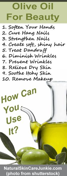 10 ways to use olive oil for skin care and natural beauty. 10 simple beauty tips for everyone.