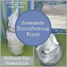 Greener Homemade Disinfecting Wipes Without the Harmful Chemicals! - Essential oils instead of chemicals  #essentialoils #greenappeal