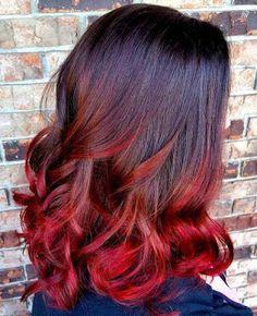 19 Ideen für rotes Haar ombre   Mode