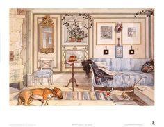 Art Print: Cozy Corner Art Print by Carl Larsson by Carl Larsson : 15x21in