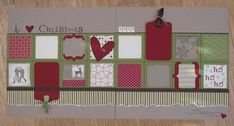 scrapbooking page layout with stampin up stamps | Love Christmas Scrapbook Layout | Stamping Together At Monika's ...