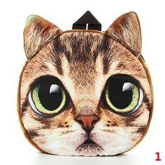 Mulheres de molde de Rosto de gato de cao de caricatura 3D viajam de mochila mal: Bid: 12,64€ Buynow Price 12,64€ Remaining 03 dias 06 hrs