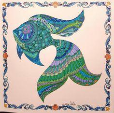 Johanna Basford's Lost Ocean colouring book.
