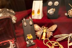 #Epoque's dusty #velvet cases have #rings and #snake #cuffs and #pendants
