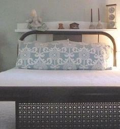 Waverly Fun Floret home decor fabric in a serene aqua & white contemporary floral body pillow cover.. $25.00, via Etsy.