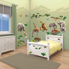 Walltastic Jungle Adventure Room Decor Kit