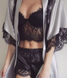 A sheer three-piece set known for being really conceited. It thinks that it's WAY too sexy for your shirt