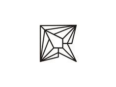 R letter mark geometric rocket logo design symbol