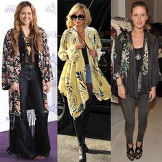 Nicole Richie, Nicky Hilton, and Miley Cyrus Wearing Kimono-Style Jackets | POPSUGAR Fashion