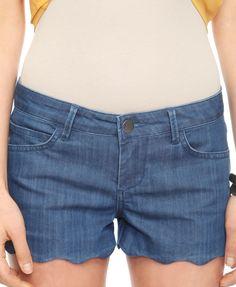 Life In Progress™ Scalloped Denim Shorts   FOREVER21 - 2011409484
