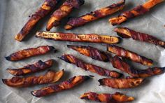 Bacon Wrapped Sweet Potato Fries! This could be a side dish or a meal all on it's own, who am I to say?