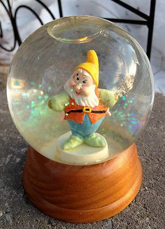 RARE Happy Snow Globe First Limited Edition Disney Crystal Vintage | eBay
