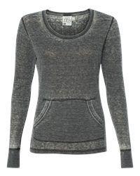 J. America Ladies Vintage Zen Thermal Long Sleeve T-Shirt