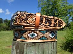 I can make the belt that conveys the message of your choice. Be it a belt for a very special occasion or one that works hard everyday. Custom Leather Belts, Leather Jewelry, Leather Craft, Handmade Leather, Western Belt Buckles, Western Belts, Western Wear, Leather Tooling, Tooled Leather
