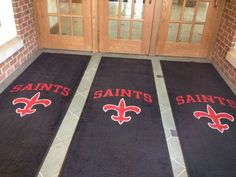 Rug Rats specializes in creating school logo rugs and mats. Show your school spirit with your school logo rug! Ask us about free rug proofs & samples.
