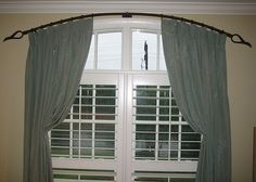 shades on top and blinds below for 3 panel arched window - Google Search