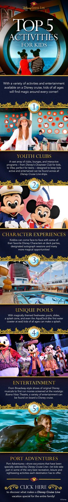 Check out these top 5 activities for kids on a Disney Cruise vacation!