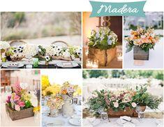 centros de mesa para tu boda base de madera