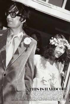 He's from Sheffield not Manchester but nevermind - Jarvis Cocker and Camille Bidault-Waddington wedding