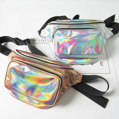 Cheap waist belt bag, Buy Quality waist pack directly from China belt pouch Suppliers: Waterproof Laser Fanny Pack Hip Waist Pack Belt Pouch Women Unisex Waist Belt Bag PU Hologram Money Belts Travel Cashier Pouch Punk, Belt Pouch, Pouch Bag, Waist Pack, White Elephant Gifts, Mode Inspiration, Leather Bag, Purses And Bags, Messenger Bag