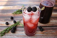 Blackberry Shrub - Sipping Vinegar.   Instead of ACV use Kombucha that is too vinegary