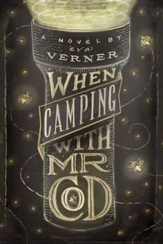 i am a huge fan of blackboard typography. the design of this book cover really sets the mood for the book - it already makes you feel like you are on a camping trip. the weight of the flashlight as the central image and the way the text wraps itself inside the flashlight contrasts with the airy, whimsical and firefly filled background.