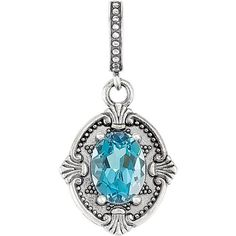 Zales Oval Simulated Blue-Green Opal, Lab-Created Emerald and White Sapphire Frame Pendant in Sterling Silver