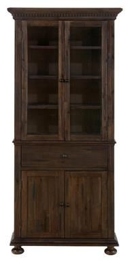 Geneva Hills Traditional Brown Wire Brushed Cabinet