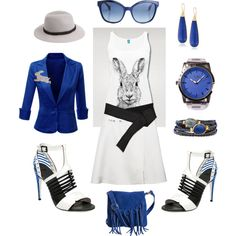 Electric Bunny by winkinbitsy on Polyvore featuring Doublju, Pieces, Devon Leigh, Gas Bijoux, Flud, Fendi and Forever 21