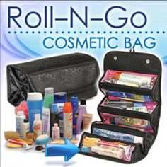 Roll N Go Cosmetic Bag! I use these for everything! Great organizer especially while traveling! Bags Cosmetic Bags & Cases