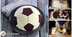 Lanciatevi nella preparazione di questa torta fantastica a forma di pallone da calcio! Niente di meglio per stupire i vostri ospiti.