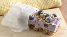 "Get your yogurt and granola in a frozen bar that you can ""grab and go"" for breakfast or for a snack any time of day."