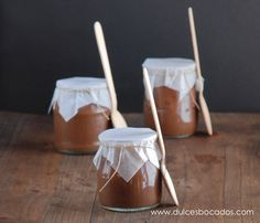 Vasitos De Mousse De Chocolate - This recipe is in Spanish but there's a translator on the page.  It's an awesome recipe!  Give is a whorl just for fun! :)