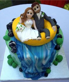 A once in a lifetime event need a very special and delicious cake built just of the occasion. For your weeding, book Rock Star Pastries for your cake! Bride And Groom Cake Toppers, Custom Wedding Cake Toppers, Personalized Cake Toppers, Wedding Cakes, Waterfall Cake, Groom Tux, Small Paint Brushes, Rafting, Yummy Cakes
