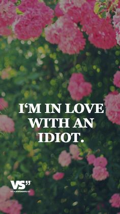 I'm in love with an idiot. - VISUAL STATEMENTS®