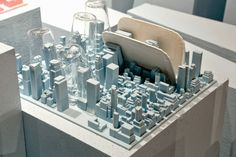 Inspired by Inception, Luca Nichetto Turns NYC into a Flexible Silicone Dish Rack - Design Milk Bunker, Skyline Von New York, Microwave In Kitchen, Dish Racks, Luca, Functional Kitchen, You Draw, Desk Organization, Green Building