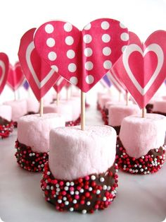Easy marshmallow treats for Valentines.