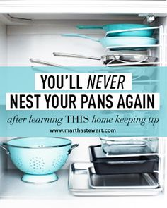 You'll Never Next Your Pans Again After Learning This Homekeeping Tip | Martha Stewart Living