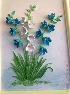quilling. This is stunning! I love 3D art. I also love when artist's mix their mediums. Beautiful!