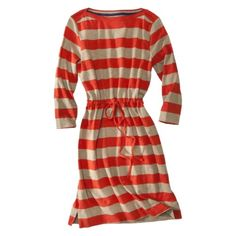 Merona® Women's Jersey Dress w/Tunnel Belt - Assorted Colors.Cute with brown leggings and boots