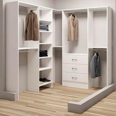 Rebrilliant Delphine W Closet System Make A Closet, Front Closet, Closet Rod, Walking Closet, Bedroom Corner, Master Bedroom Closet, Paris Bedroom, Bathroom Closet, Bedroom Wall